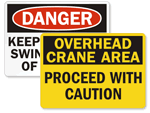 Crane Safety Signs