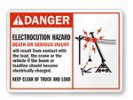 Electrocution Danger Label