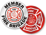 Fire Rescue Helmet Label