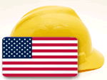 American Flag Hard Hat Sticker