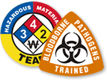 HazMat and Decon Team Hard Hat Labels