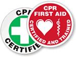 CPR Qualified Hard Hat Decals