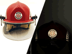 Fire Fighter Helmet Label