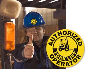Forklift Hard Hat Decals