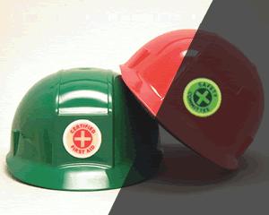 GlowSmart™ Photoluminescent Hard Hat Stickers