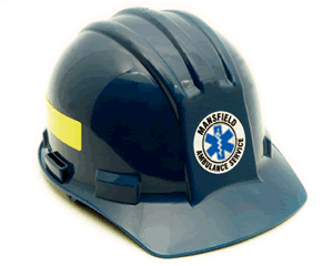 Star of Life Hard Hat Stickers