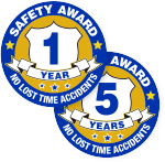 Safety Award Stickers - Top Selling