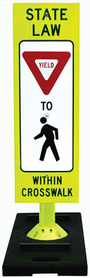 Pedestrian Crossing Sign And Base Sku S 8681 Base