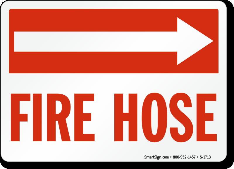 Fire Hose Right Arrow Sign Sku S 1713