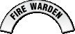 Fire Warden Reflective Hard Hat Decal