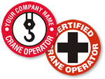 Crane Hard Hat Stickers