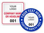 Custom Hard Hat Stickers