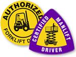Certified Forklift Operators Hard Hat Stickers