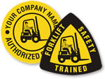 Forklift Hard Hat Stickers