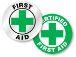 First Aid Hard Hat Labels