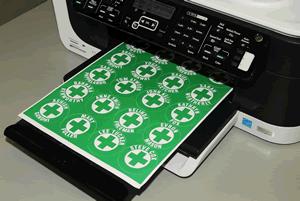 Laser Printable Hard Hat Stickers