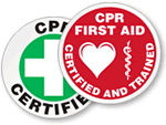CPR Qualified Hard Hat Decals