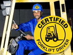 Forklift Certification Hard Hat Sticker