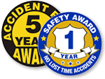 Safety Award Stickers