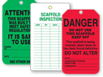 Scaffold Safety Tags