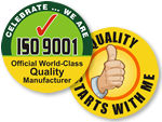 ISO & QA Celebration Hard Hat Stickers