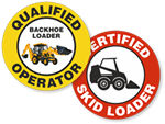 Loader Certified Stickers