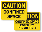 Confined Space Labels