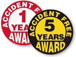 Award Stickers for Safe Work Label