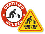 Welding Hard Hat Stickers