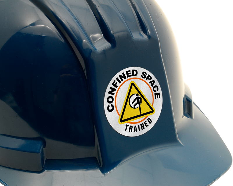 Confined Space Stickers | HatHugger Decals