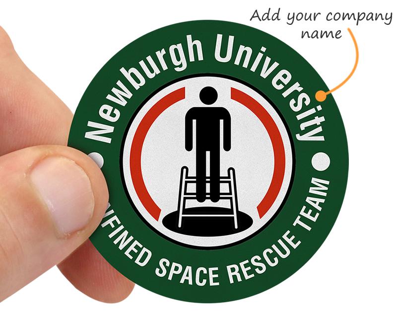 Helmet Decal Label Emblems Confine Confined Space Certified Hard Hat Sticker