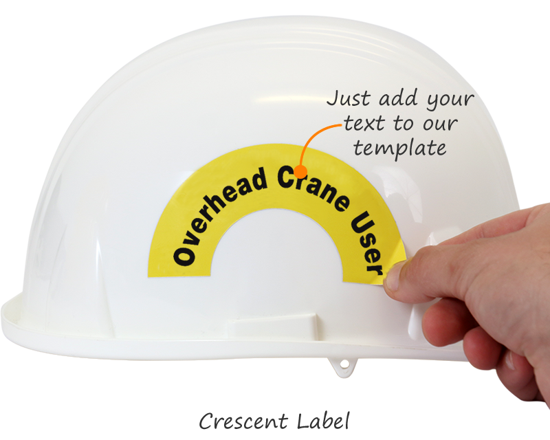 Crescent & Rocker Hard Hat Stickers