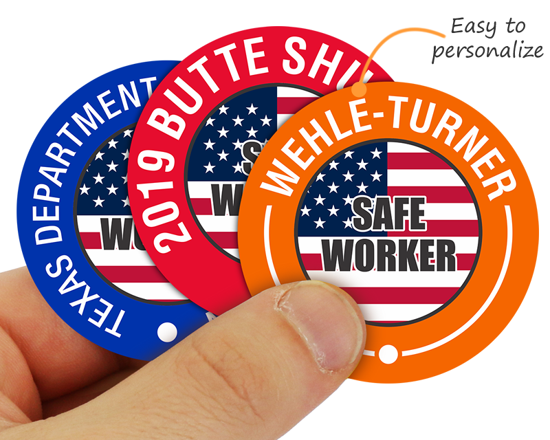 ... Hat Stickers; Custom safety hard hard stickers – great for shutdowns  and awards