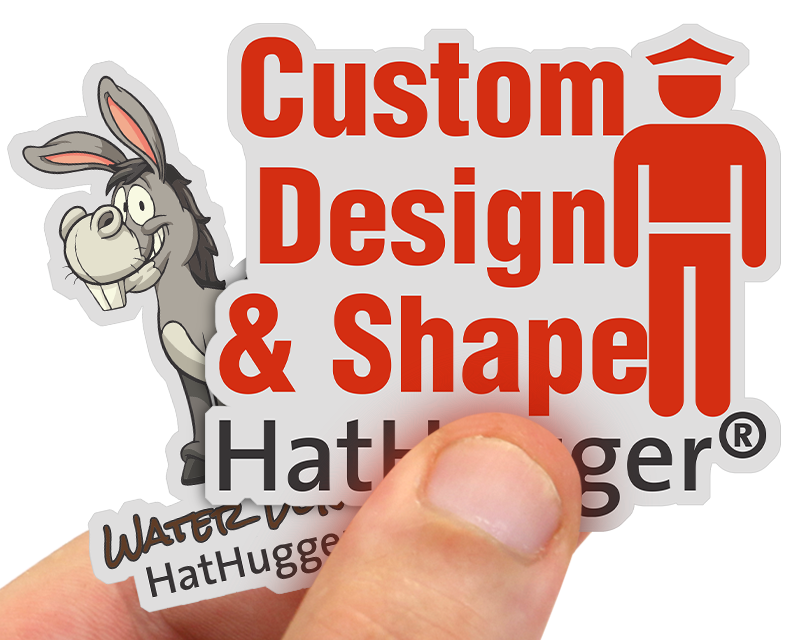 Customized hard hat stickers