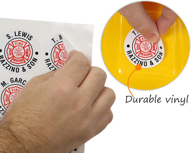 Make Your Own Custom Hard Hat Stickers