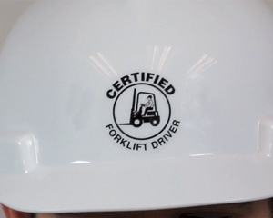 Certified Forklift Driver Hard Hat Decal
