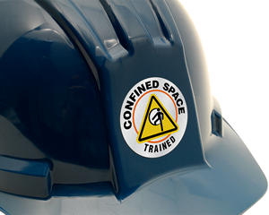 Confined space sticker