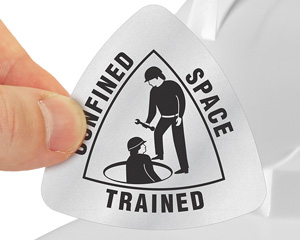Confined Space Trained Helmet Decal