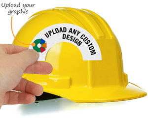 Custom cresent hard hat label