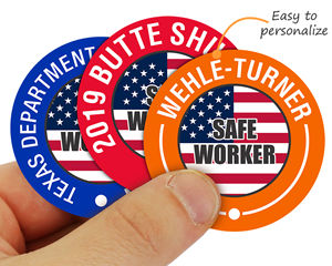 Custom safety hard hard stickers – great for shutdowns and awards