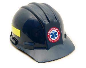 Emergency Medical Technician Hard Hat Label