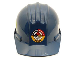 Hazardous Materials Team Hard Hat Label