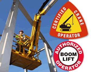 Crane Operator Hard Hat Stickers
