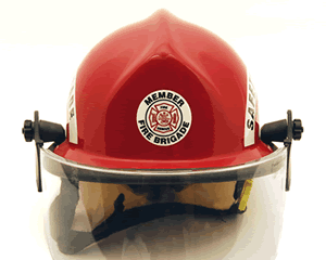Fire Helmet Rescue Stickers