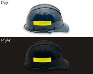 Reflective helmet and hard hat stickers