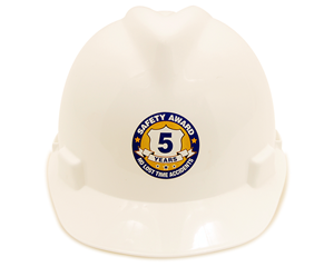 Safety Award Hard Hat Labels