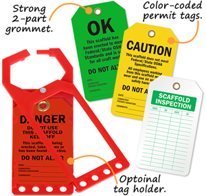 Scaffolding Inspection Tags