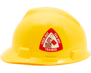 Lock Out Tag Out Trained - Hard Hat Labels