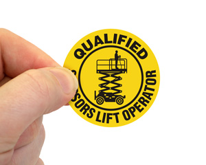 Qualified Scaffold Inspector Hard Hat Sticker