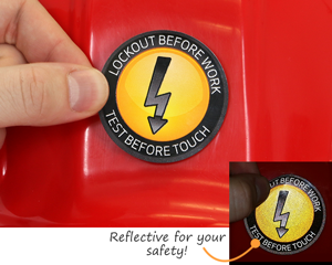 Reflective for your safety!